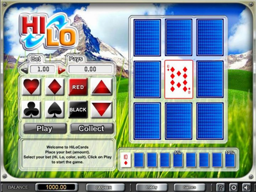 Hi-Lo Instant Win Games - Play the Free Casino Game Online