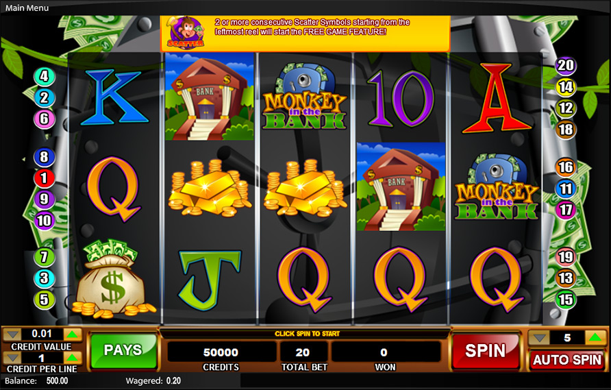 Monkey In The Bank Slot - Play Online or on Mobile Now