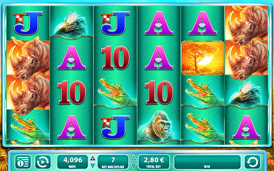Raging Rhino Slot Machine - Play for Free with No Deposit
