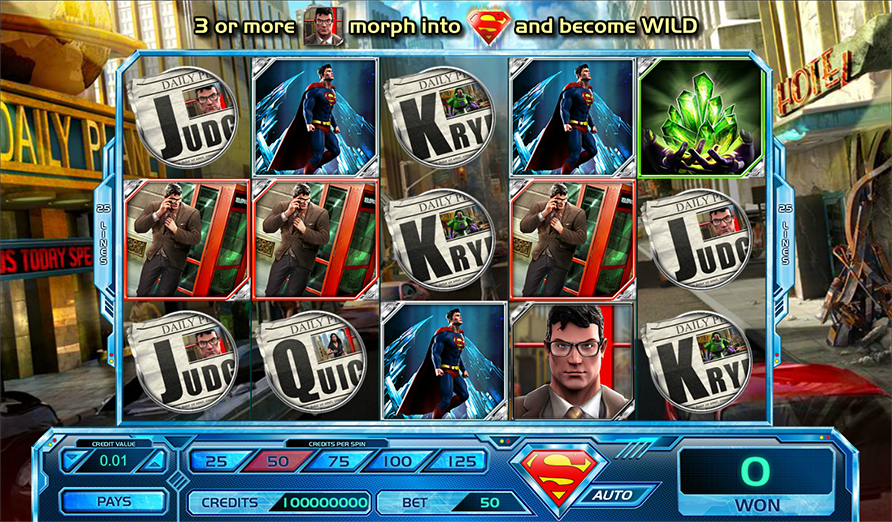 Superman Last Son of Krypton Slot - Prova det gratis online